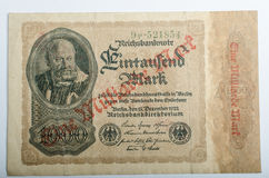 Old German banknotes, money. Background, all real money Royalty Free Stock Photos