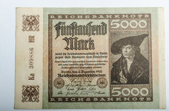 Old German banknotes, money. Background, all real money Royalty Free Stock Photo