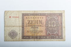 Old German banknotes, money. Background, all real money Stock Photo