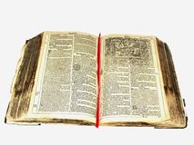 Old German bible. A 300 year old German Bible Stock Image