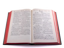 Old German Bible - Psalms. German Bible in old script (Fraktur), with clipping path Stock Images