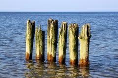 Old german breakwater. Stock Photos