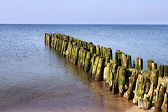 Old german breakwater. Royalty Free Stock Photo