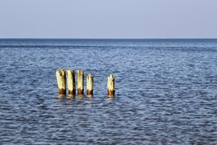 Old german breakwater. Royalty Free Stock Photography