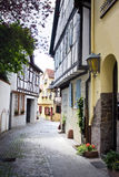 Old german buildings. Historic center of aschaffenburg, germany Stock Images