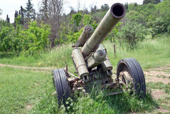 Old German cannon.Sevastopol,Crimea Stock Images