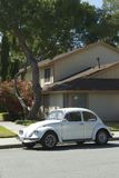 Old German car Volkswagen Beetle. Milpitas, California, United States - May 31, 2016: Old German car Volkswagen Beetle parked near the apartment house Stock Image