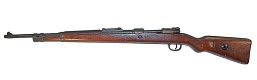 Old German carabin Mauser 98-K separated Royalty Free Stock Photography