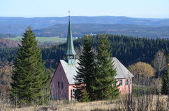 Old German chapel in the mountains Royalty Free Stock Photography