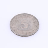 Old german coin. On white backgrond Stock Image