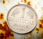 Old german coin Stock Photography