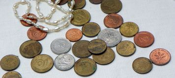 Old German coins Stock Photo