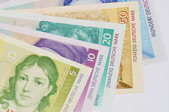 Old german currency. Some banknotes of old german currency Royalty Free Stock Photography