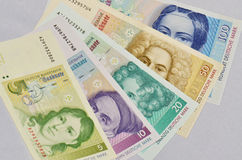 Old german currency stock photography