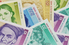 Old german currency Royalty Free Stock Images