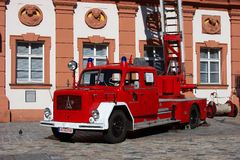 Old german fire brigade car - Magirus Deutz Royalty Free Stock Photography