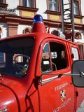 Old german fire brigade car - Magirus Deutz Stock Photo