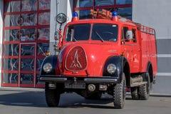 Old german fire brigade car - Magirus Deutz Royalty Free Stock Image