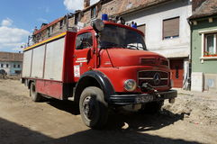 Old german fire brigade car - Mercedes Stock Photography