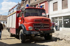 Old german fire brigade car - Mercedes Royalty Free Stock Photography