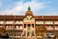 Old german Guesthouse in Bathing Beach N1, Qingdao royalty free stock photo