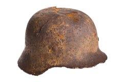 Old German helmet world war . Stock Photo