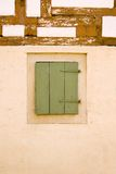Old German house wall with window Royalty Free Stock Photo