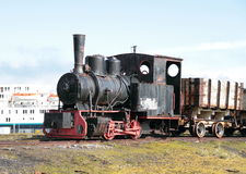 Spitsbergen/Ny-�lesund:Old Coal-Mining Locomotive Royalty Free Stock Photography