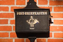 Old German mailbox, Kaliningrad Stock Images