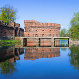 Old german military fortification. Kaliningrad Stock Image