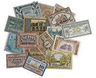Old German money. At the present time are collectible Stock Images