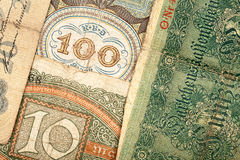 Old german money. Notes background Royalty Free Stock Photography