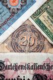 Old German money. Notes as a background Stock Photography