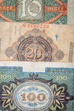 Old German money. Notes as a background Royalty Free Stock Images