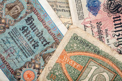 Old german money Royalty Free Stock Images