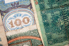 Old german money. Notes background Stock Image