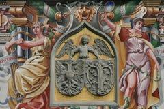 Lindau mythology house wall stock images