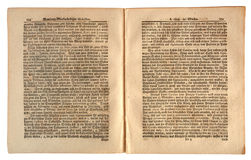 Old German Newspaper dated 1739 Stock Photo