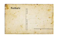 Old german postcard, isolated on white Royalty Free Stock Photos