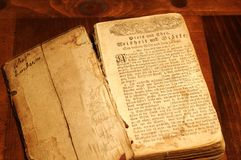 Old German prayer book Stock Photography