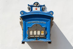 Old German public mailbox Royalty Free Stock Photos
