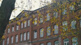 Old german school building stock footage