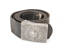Old german soldier belt Stock Photography