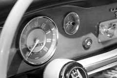 Old german sports car interior Royalty Free Stock Photos