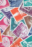 Old German stamps about Industry and Technics (Editorial) Stock Images