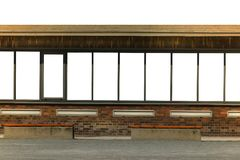 Old german train station waiting house mockup. In duisburg landschaftspark germany Royalty Free Stock Photography