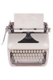 Old german type writer with old paper Stock Photography