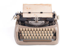 Old german type writer with old paper Royalty Free Stock Photos