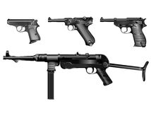Old German weapons Royalty Free Stock Image