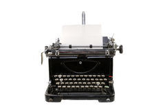 Old germany type writer with paper sheet isolated on white. Old  type writer with paper sheet isolated on white Royalty Free Stock Image
